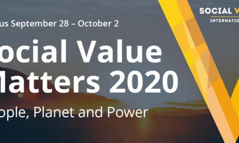 【SVI:2020年9月28日(月)~10月2日(金)@オンライン】プログラム・登壇者が決定:Social Value Matters 2020
